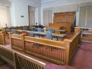 old federal courtroom, Boise
